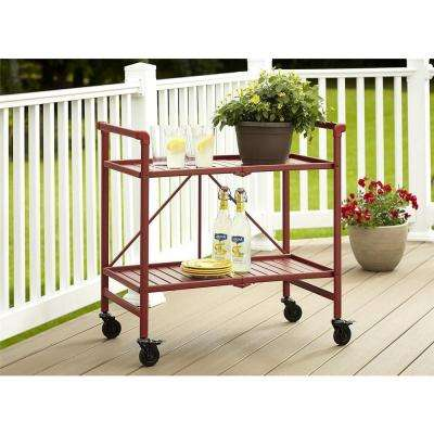 Smartfold Ruby Red Serving Cart