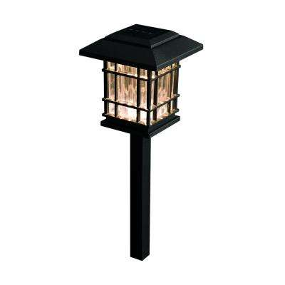 Solar Black Outdoor Integrated LED 3000K 8-Lumens Landscape Pathway Light (6-Pack)