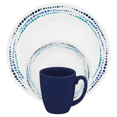 Classic 16-Piece Ocean Blues Dinnerware Set