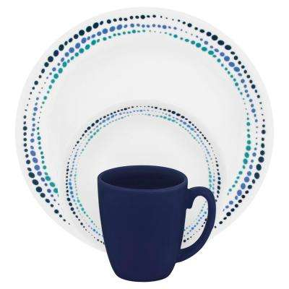 Classic 16-Piece Ocean Blues Dinnerware Set