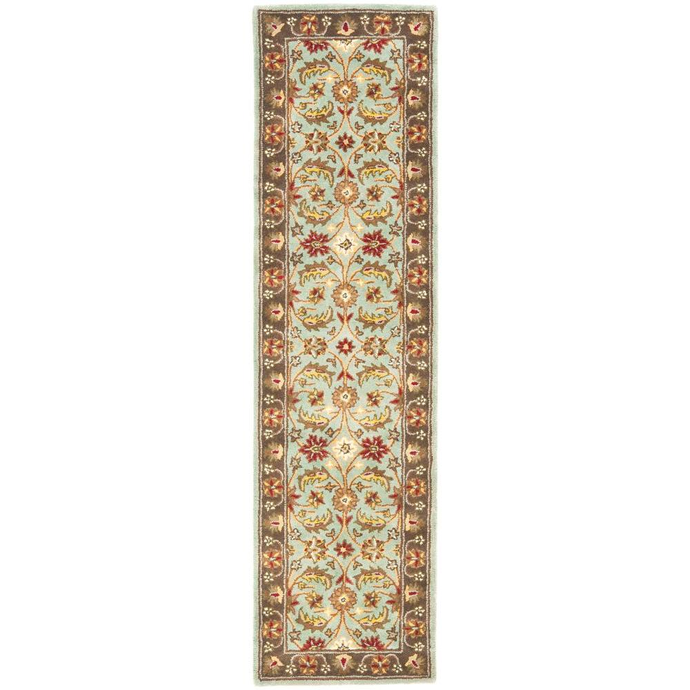 Heritage Blue/Brown 2 ft. 3 in. x 8 ft. Runner