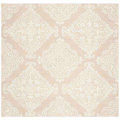 Glamour Beige/Ivory 6 ft. X 6 ft. Square Area Rug