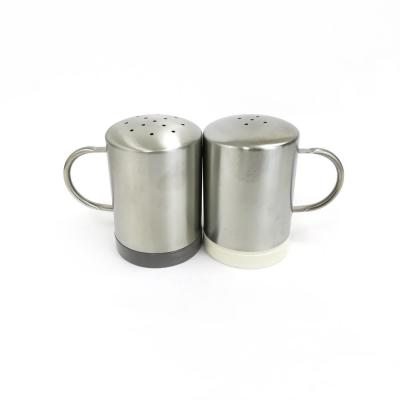 Molded Bamboo and Stainless Steel Salt & Pepper Shakers (2-Pack)