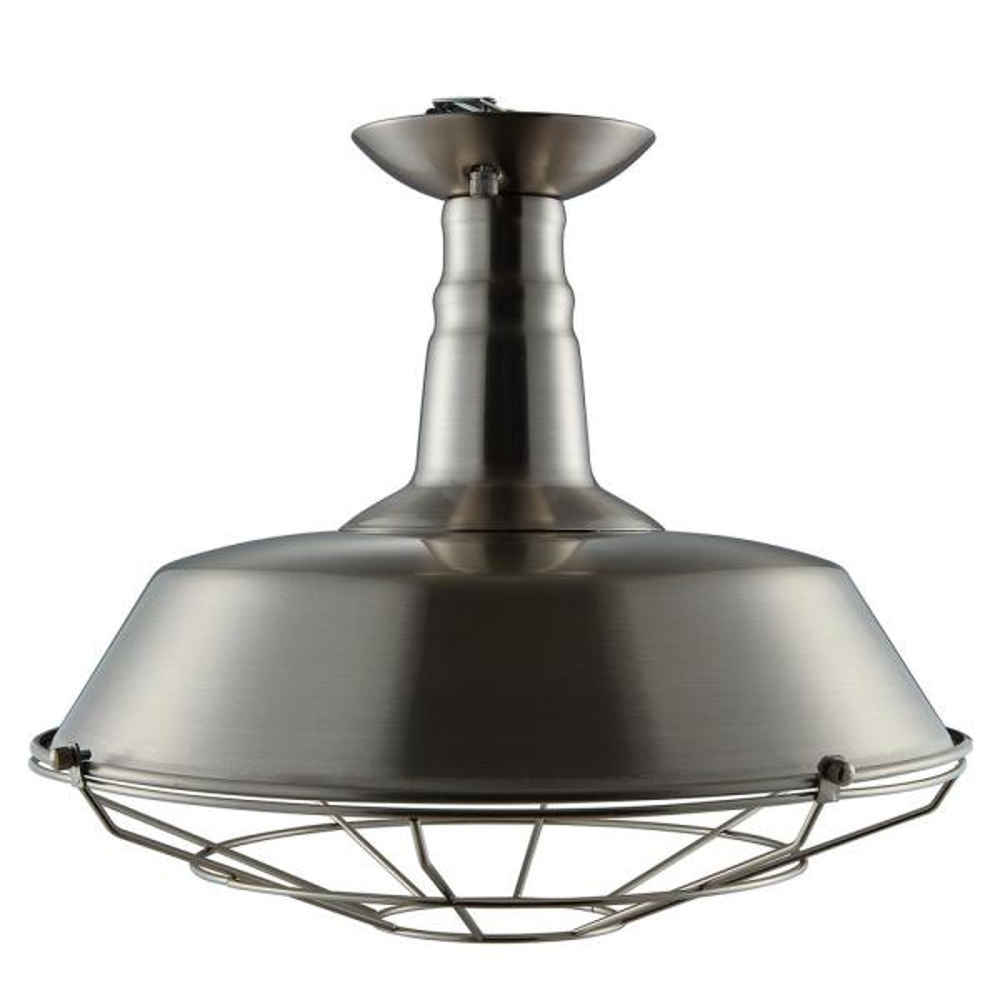 Gormo 1-Light Brushed Silver Flush Mount Pendant Lamp