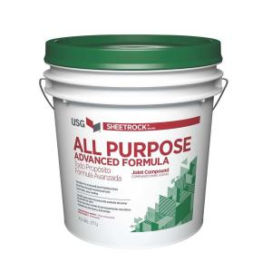 Sheetrock brand all purpose 4 5 gal pre mixed joint for Bathroom joint compound