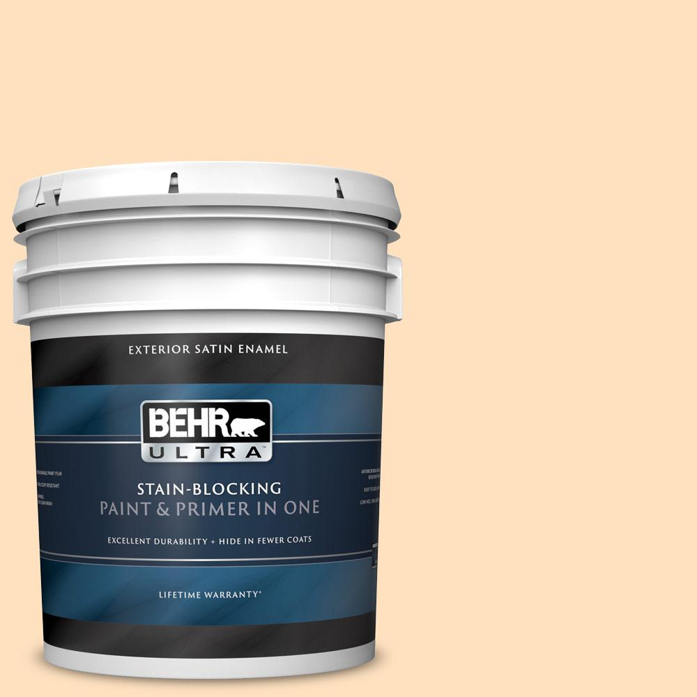 Reviews For Behr Ultra 5 Gal 310c 2 Orange Glow Satin Enamel Exterior Paint And Primer In One 985005 The Home Depot
