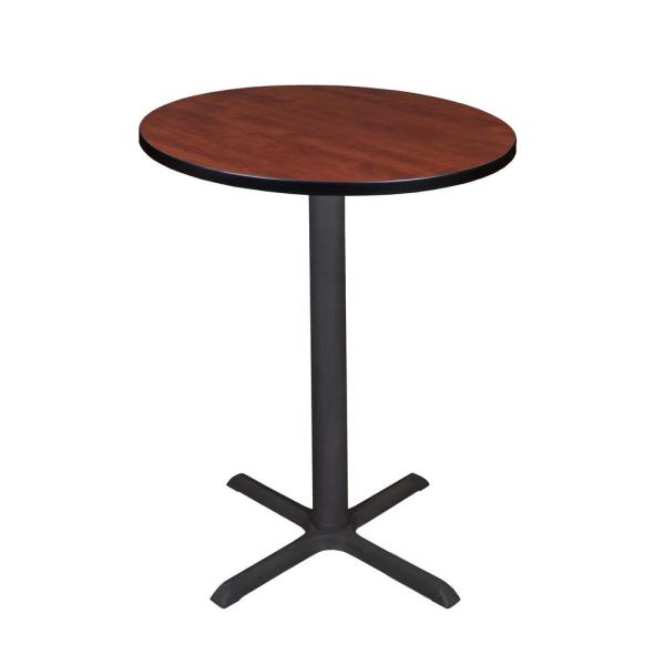 Regency Cain Cherry 30 in. Round Cafe Table TCB30RNDCH