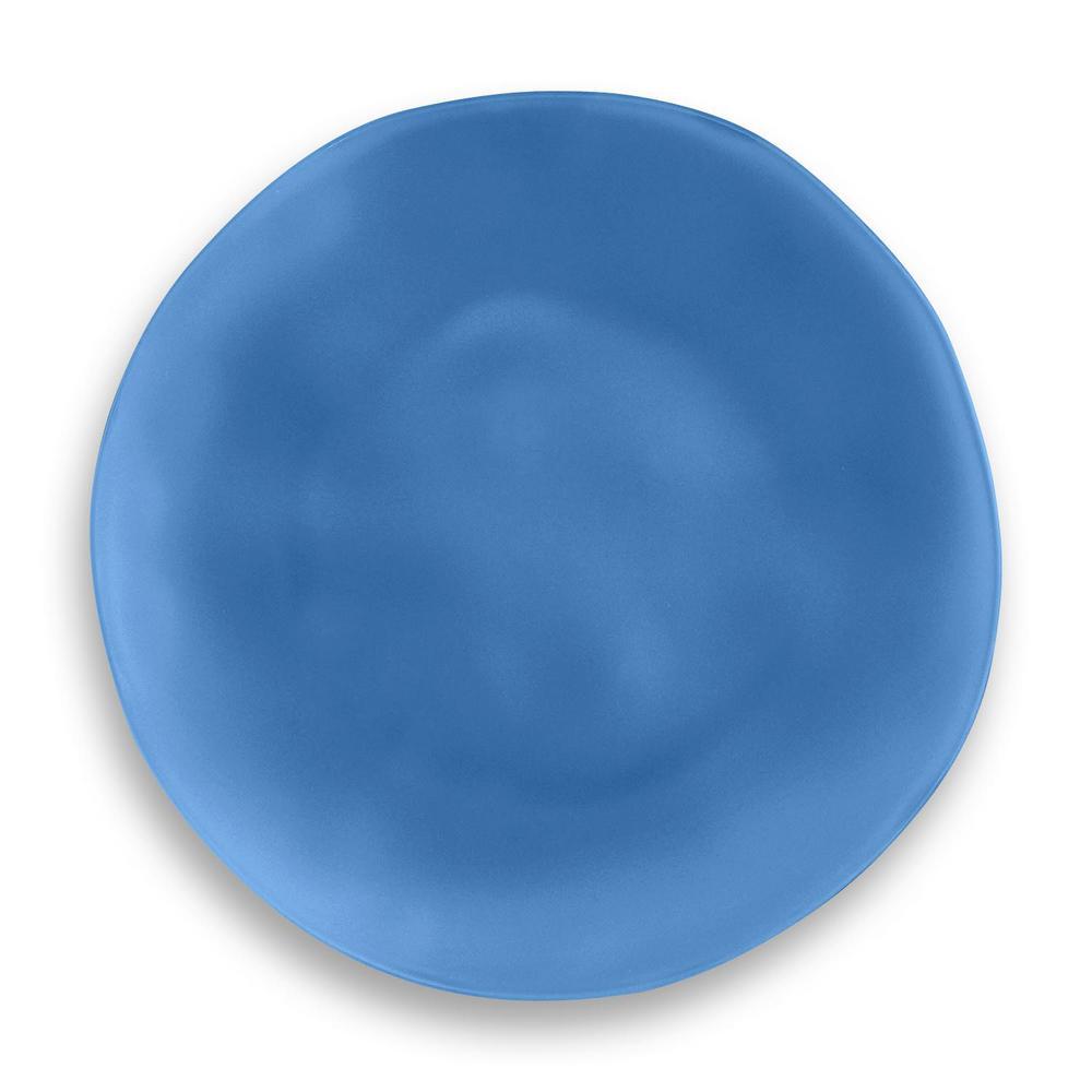 Sea Glass Polyproplyene Navy Dinner Plate (Set of 6)