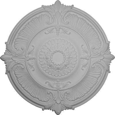 53-1/2 in. x 3-1/2 in. Attica Acanthus Leaf Urethane Ceiling Medallion (Fits Canopies up to 4-5/8 in.)