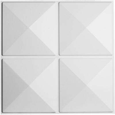 1-3/8 in. x 19-5/8 in. x 19-5/8 in. PVC White Richmond EnduraWall Decorative 3D Wall Panel