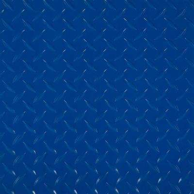 RaceDay 12 in. x 12 in. Racing Blue Peel and Stick Diamond Tread Polyvinyl Tile (20 sq. ft. / case)