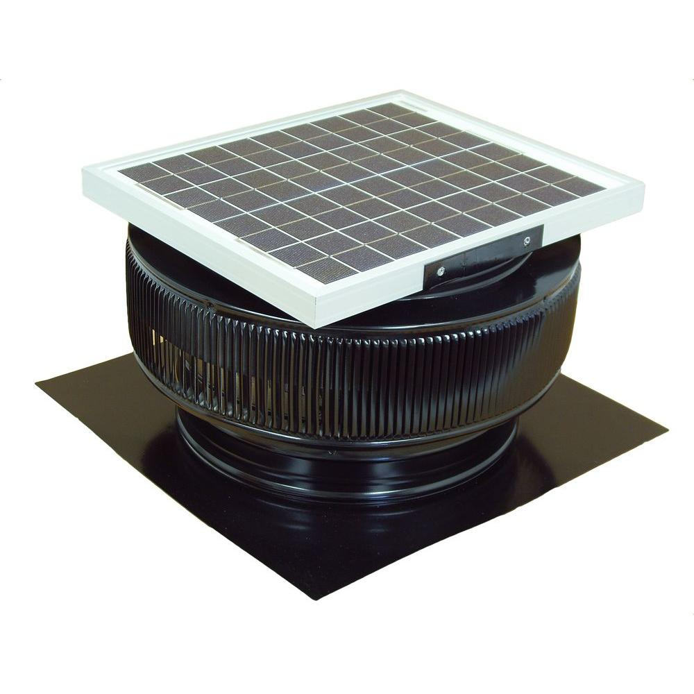 1007 CFM Black Powder Coated 15 Watt Solar Powered 14 in.