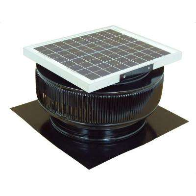 1007 CFM Black Powder Coated 15 Watt Solar Powered 14 in. Dia. Roof Mounted Attic Exhaust Fan