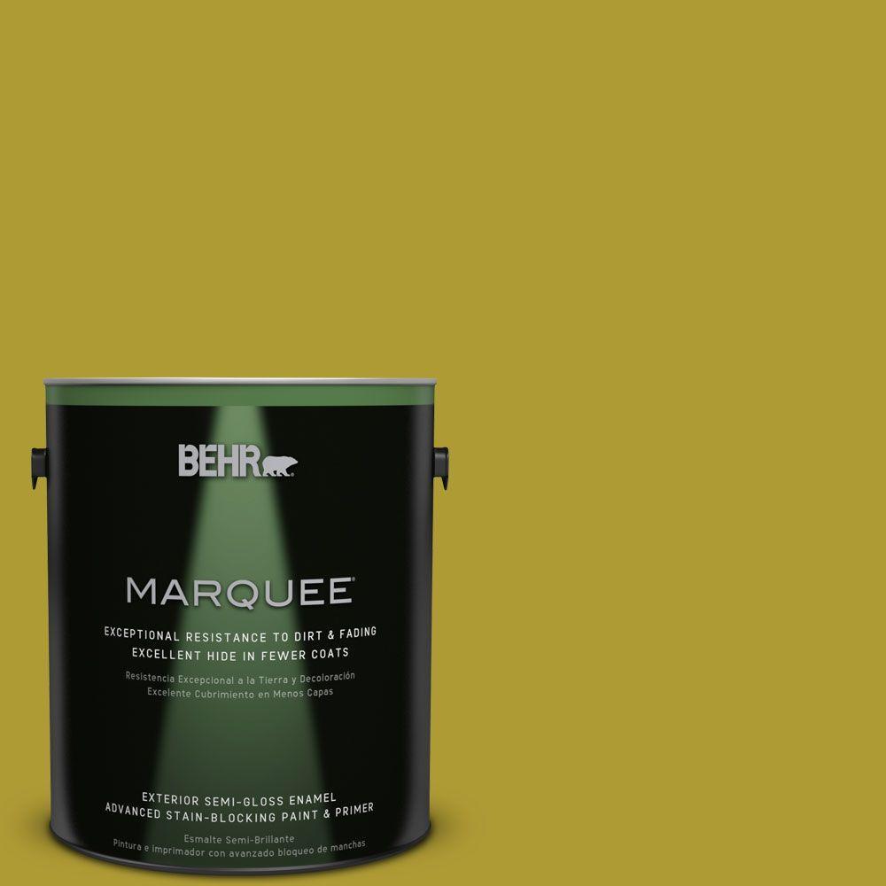 1-gal. #P330-7 Luscious Lime Semi-Gloss Enamel Exterior Paint