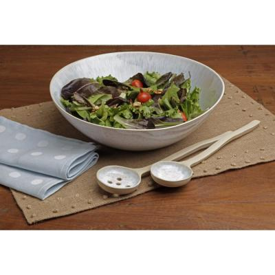 Ibiza 12.25 in. 80 fl. oz. Sea Stoneware Serving Bowl