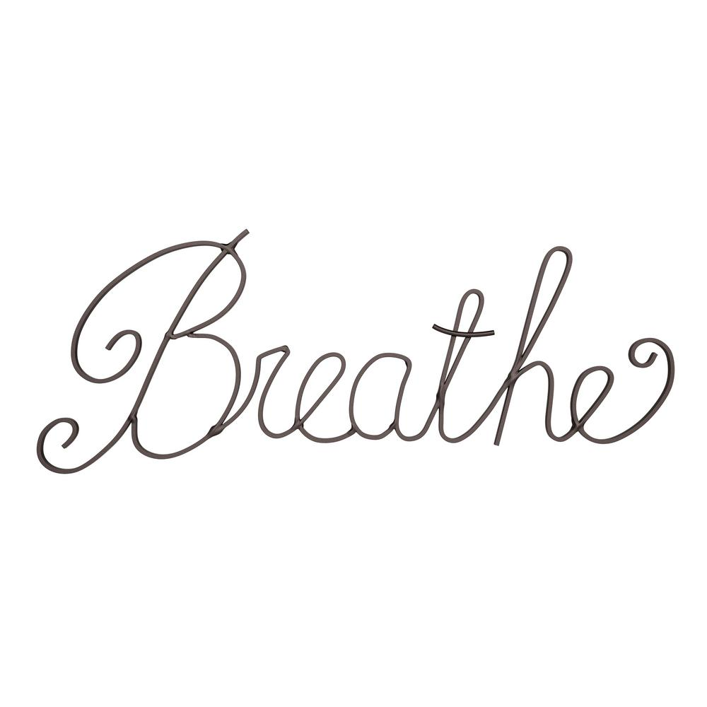 """Breathe"" Decorative Metal Cutout Wall Sign"