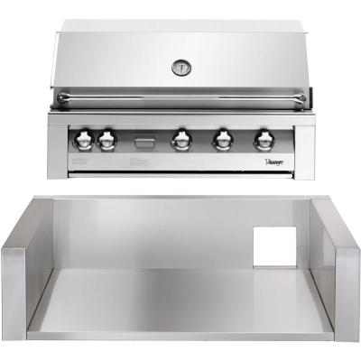 42 in. Built-In Natural Gas Grill in Stainless with Sear Zone and Insulated Jacket