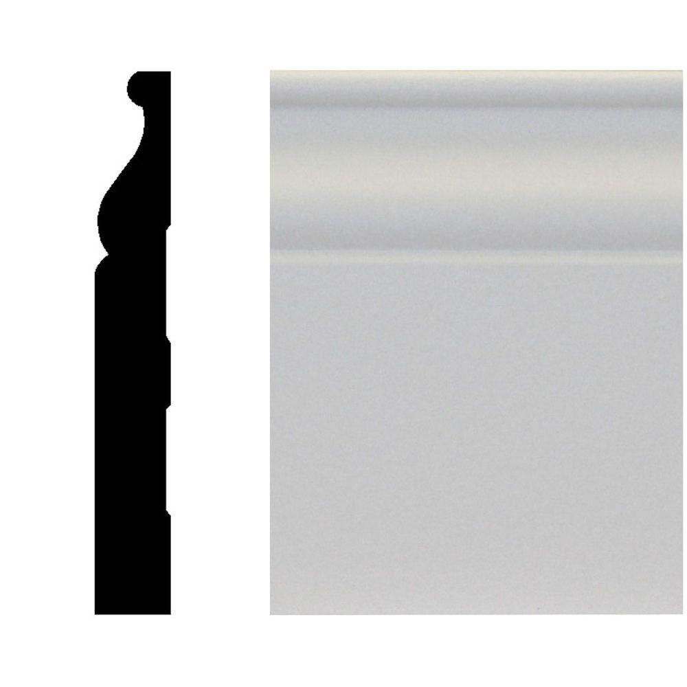House of Fara 5/8 in. x 4-1/4 in. x 96 in. MDF Primed Base Moulding