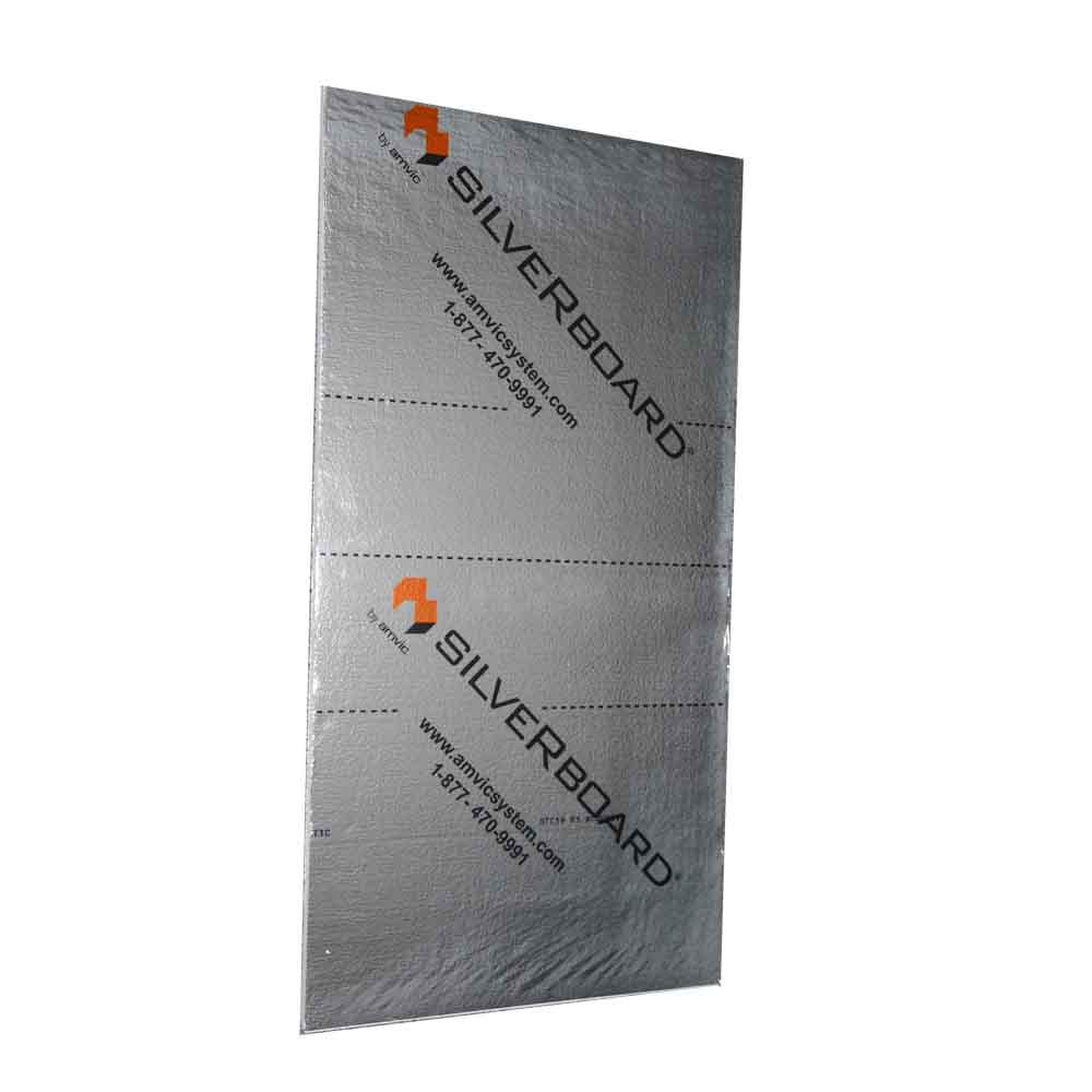 SilveRboard 24 in  x 1 in  x 48 in  R5 Radiant Acoustic Insulation Kit -  STC 19 (5-Piece)