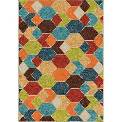 Spectacle Multi 8 ft. x 11 ft. Indoor/Outdoor Area Rug