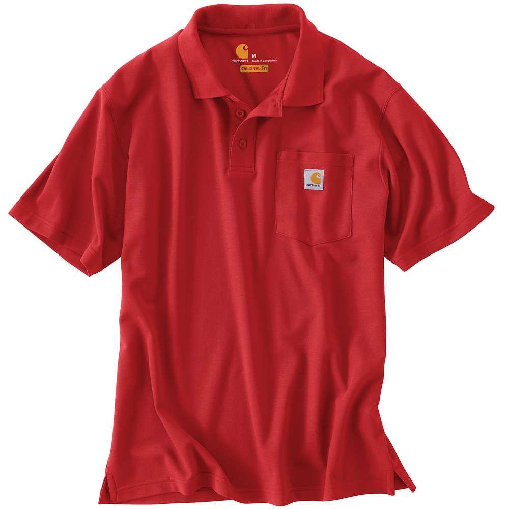 Men's Regular X Large Red Polyester/Cotton Short-Sleeve T-Shirt