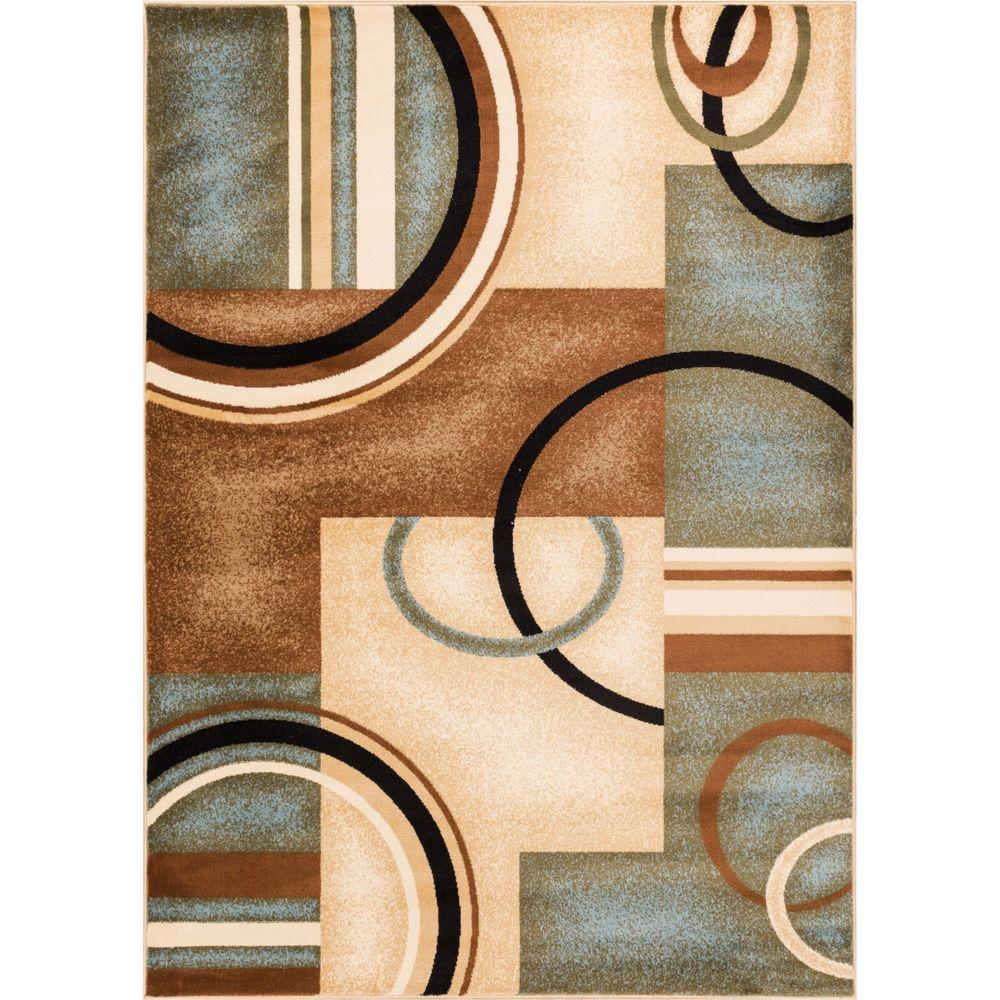 Dining 7 X 10 Rug: Well Woven Barclay Arcs And Shapes Light Blue 7 Ft. 10 In
