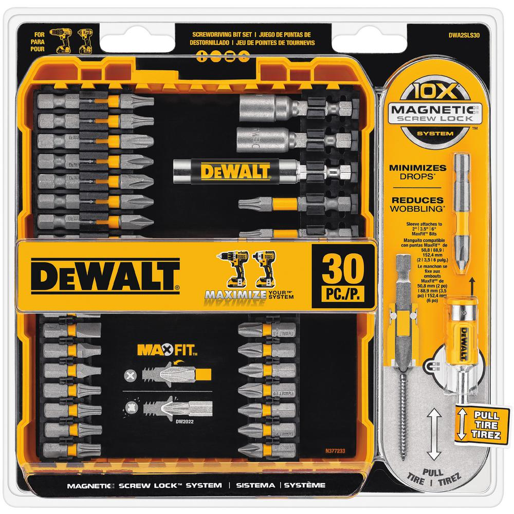 Drill bits power tool accessories the home depot maxfit driving bit set 30 piece greentooth