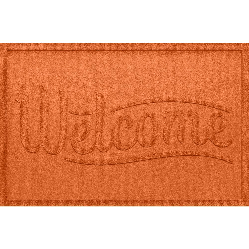 Simple Welcome Orange 24x36 Polypropylene Door Mat