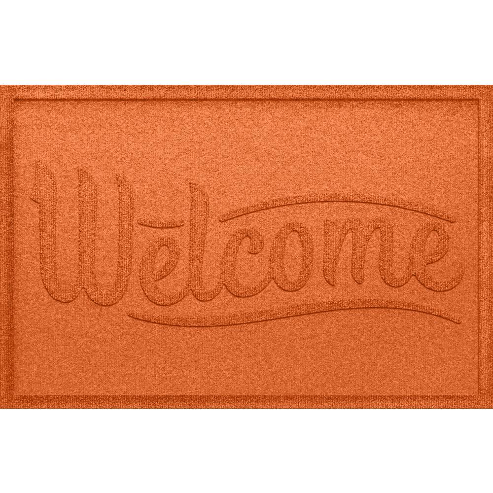 Simple Welcome Orange 24x36 Polypropylene Door Mat