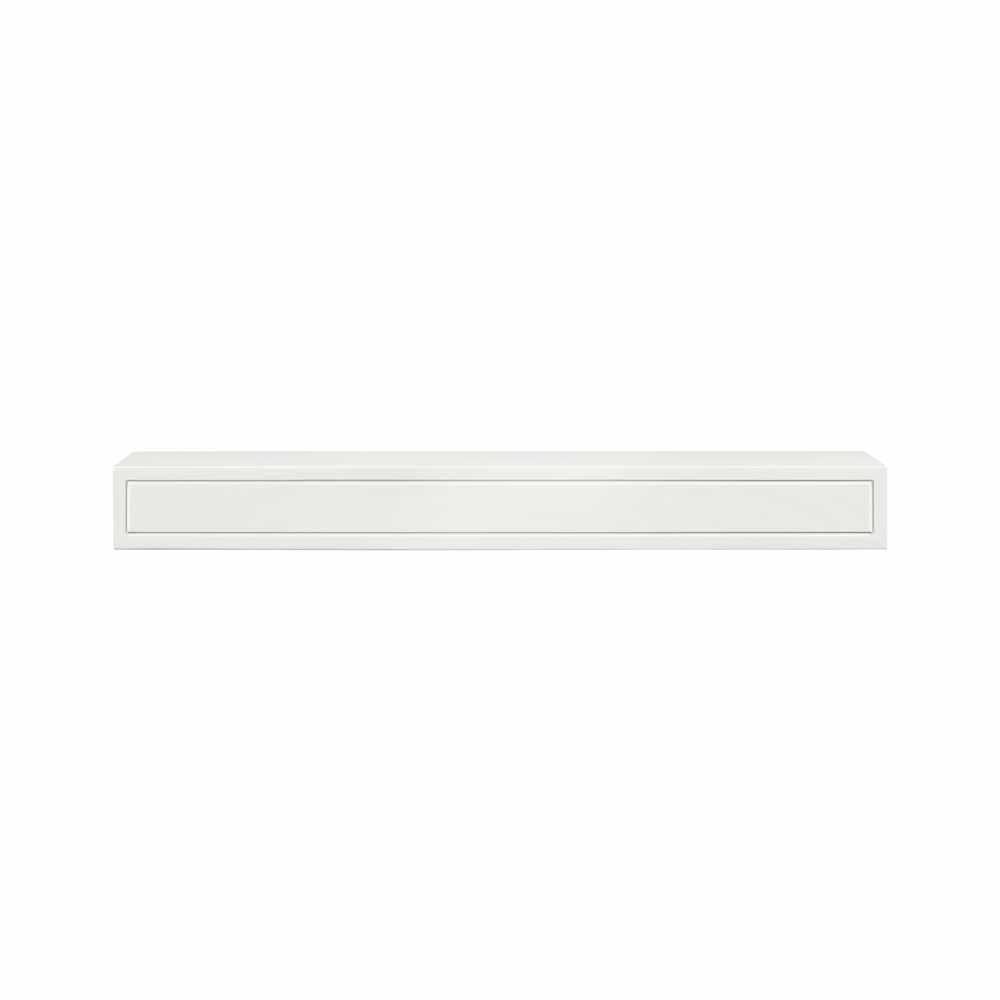 white fireplace mantel shelf. Pearl Mantels The Sarah 6 ft  MDF White Paint Cap Shelf Mantel 612