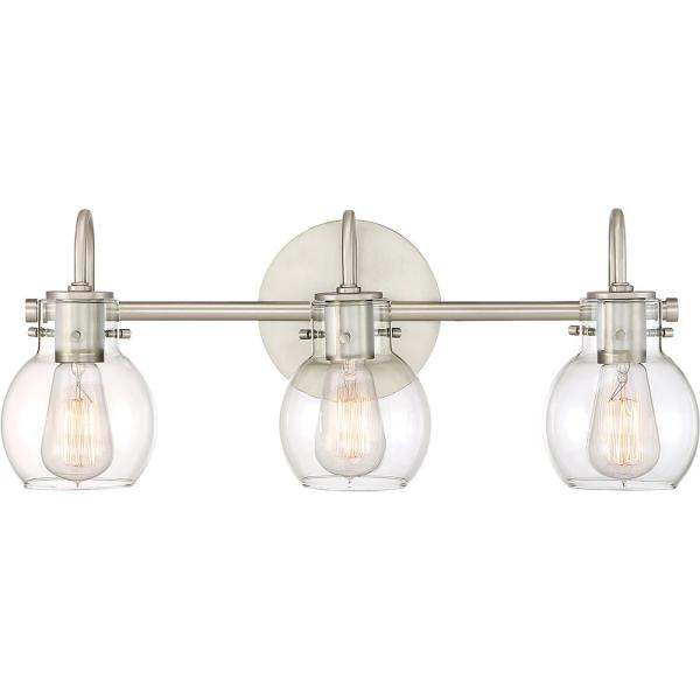 Andrews 3-Light Antique Nickel Vanity Light