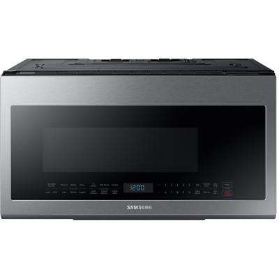 30 in W 2.1 cu. ft. Over the Range Microwave in Fingerprint Resistant Stainless Steel with Sensor Cooking