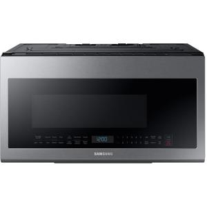 Samsung 30 inch 2.1 cu. ft. Over-the-Range Microwave in Stainless Steel with Sensor Cooking and Ceramic Enamel Interior by Samsung