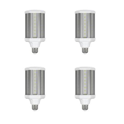 300-Watt Equivalent Corn Cob High Lumen Daylight (5000K) HID Utility LED Light Bulb (4-Pack)