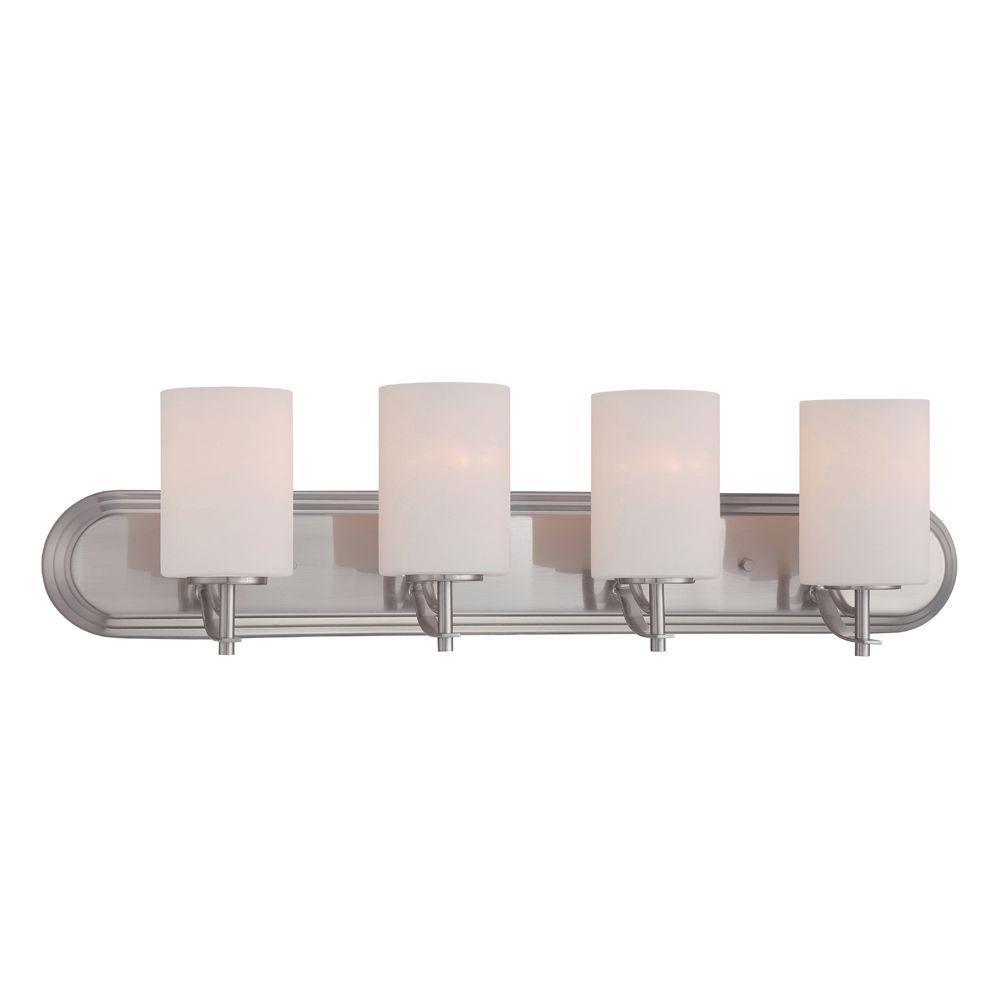 Cassina 4-Light Satin Platinum Bath Bar Light