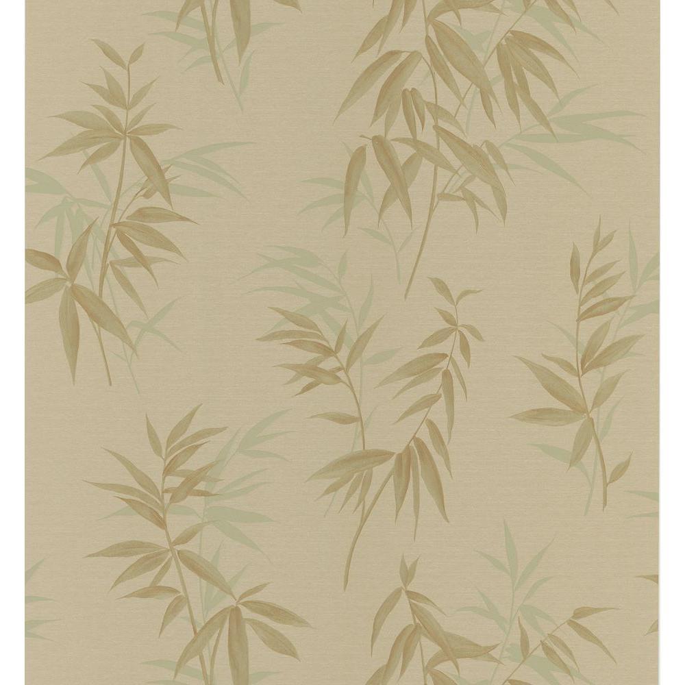 Brewster Bath Bath Bath III Brown Bamboo Wallpaper Sample
