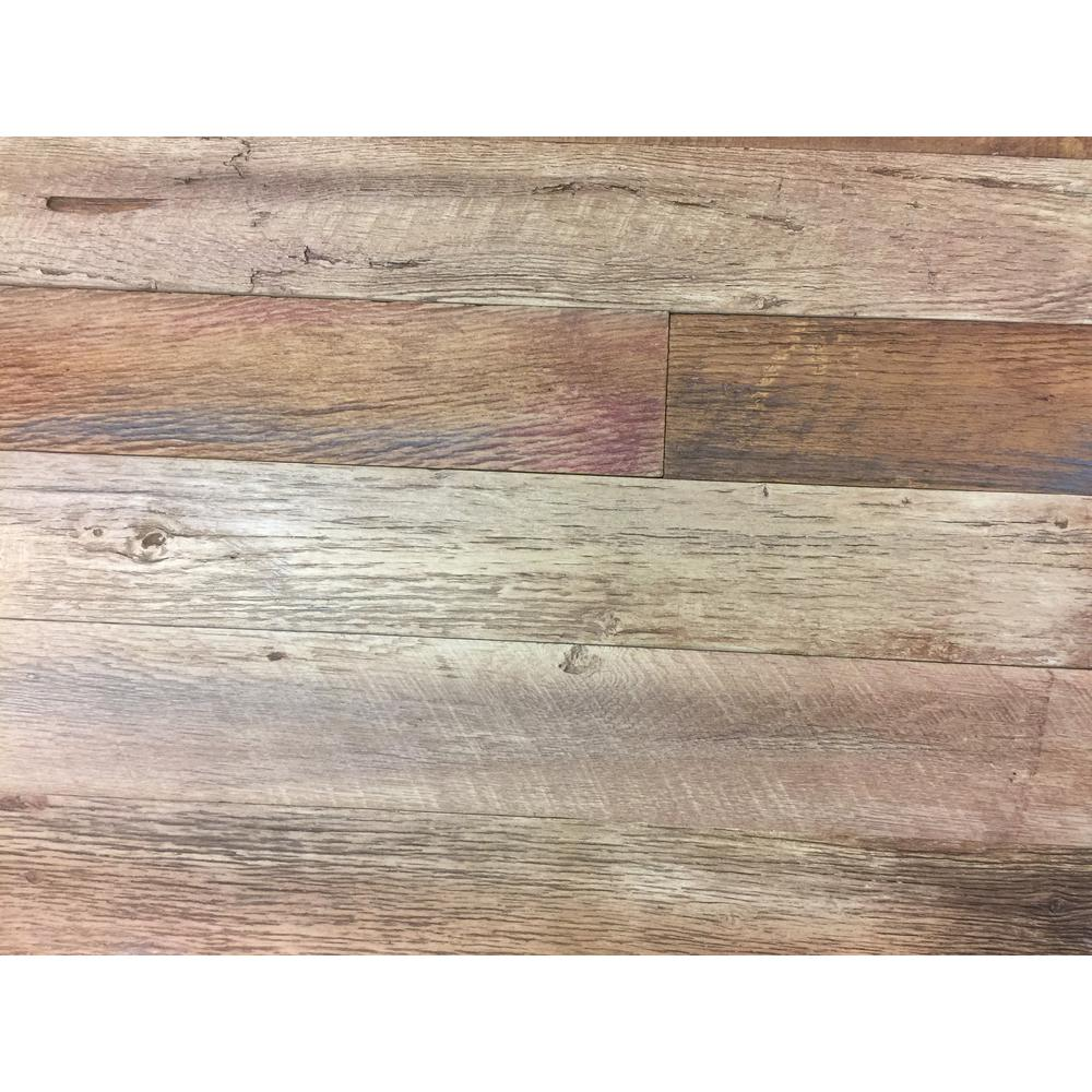 Superior Building Supplies 1/4 in. x 4 1/2 in. x Varying Lengths, Faux Barnwood Peel & Stick Planks, Finished in Steakhouse, totalling 66 sq ft. Superior Building Supplies 1/4 in. x 4 1/2 in. x Varying Lengths, Faux Barnwood Peel & Stick Planks, Finished in Steakhouse, totalling 66 sq ft.