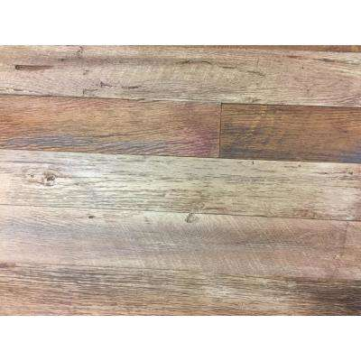 1/4 in. x 4 1/2 in. x Varying Lengths, Faux Barnwood Peel & Stick Planks, Finished in Steakhouse, totalling 75  sq ft.