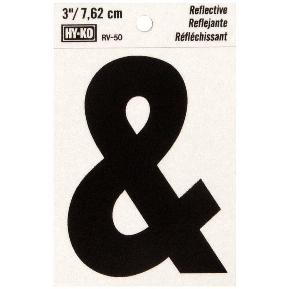 Hy Ko 3 In Self Adhesive Vinyl Ampersand Symbol Rv 50 The Home