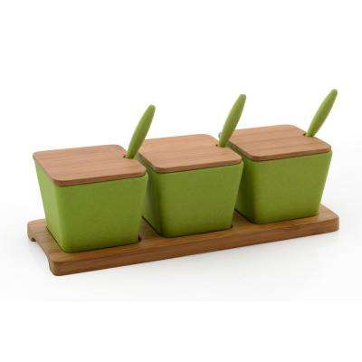 Cook ft.N ft.Co Bamboo Jar Set in Green (10-Piece)