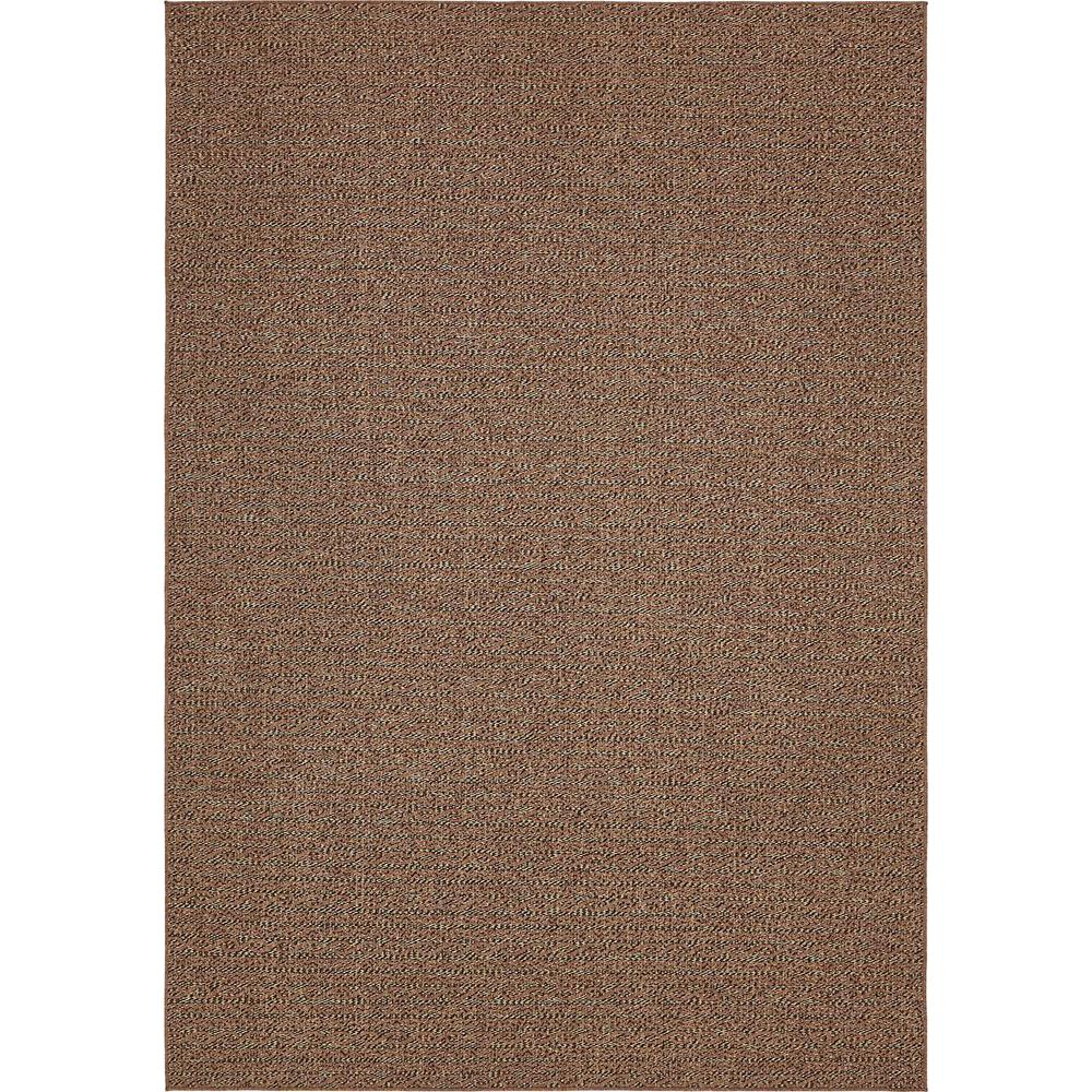 Unique Loom Outdoor Chocolate Brown 8 Ft X 11 Ft 4 In Area Rug 3140587 The Home Depot