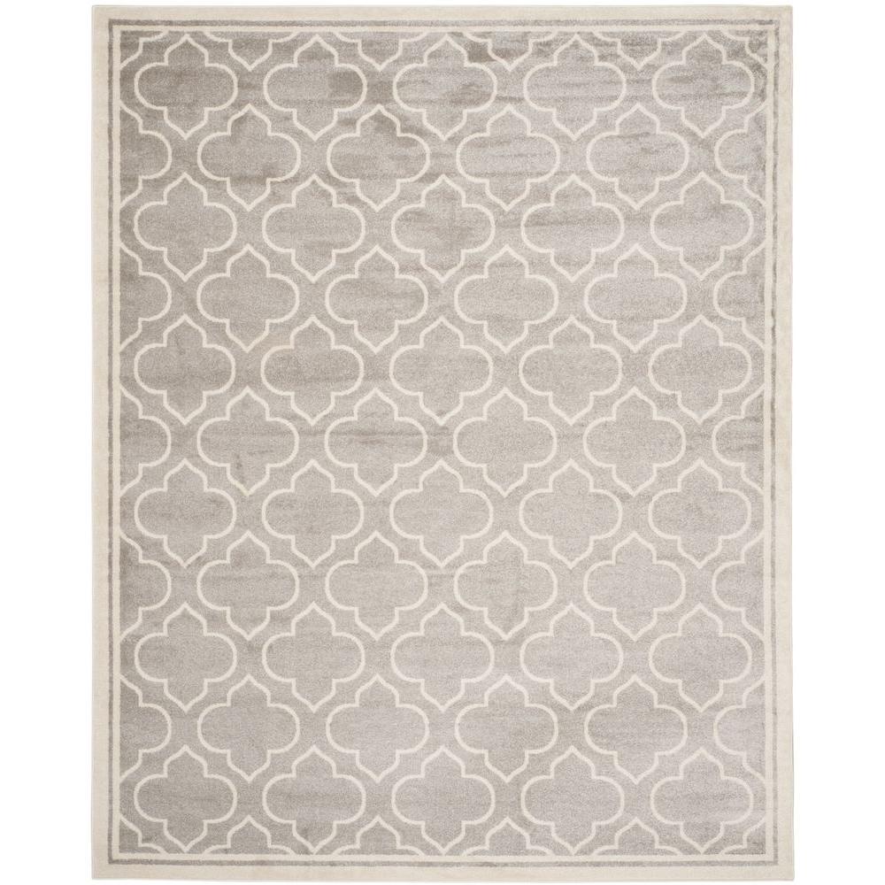 Safavieh Amherst Light Gray/Ivory 10 ft. x 14 ft. Indoor/Outdoor ...