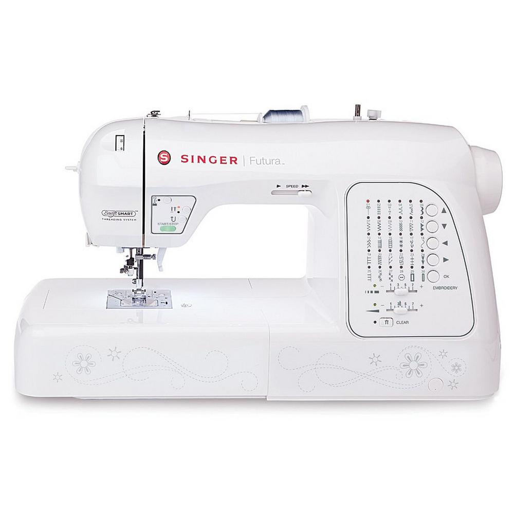 SINGER SEWING CO. Futura 200 Built-in Embroidery Designs ...