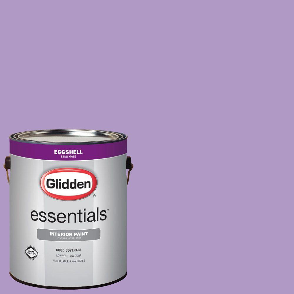 Glidden Essentials 1 gal. #HDGV55D Confetti Purple Eggshell Interior Paint