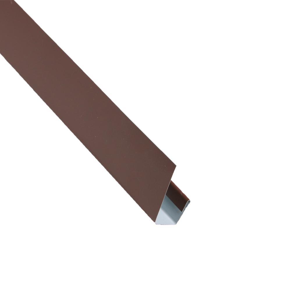 Metal Sales 2 in. x 10.5 ft. Steel J-Channel Brown Drip Edge Flashing