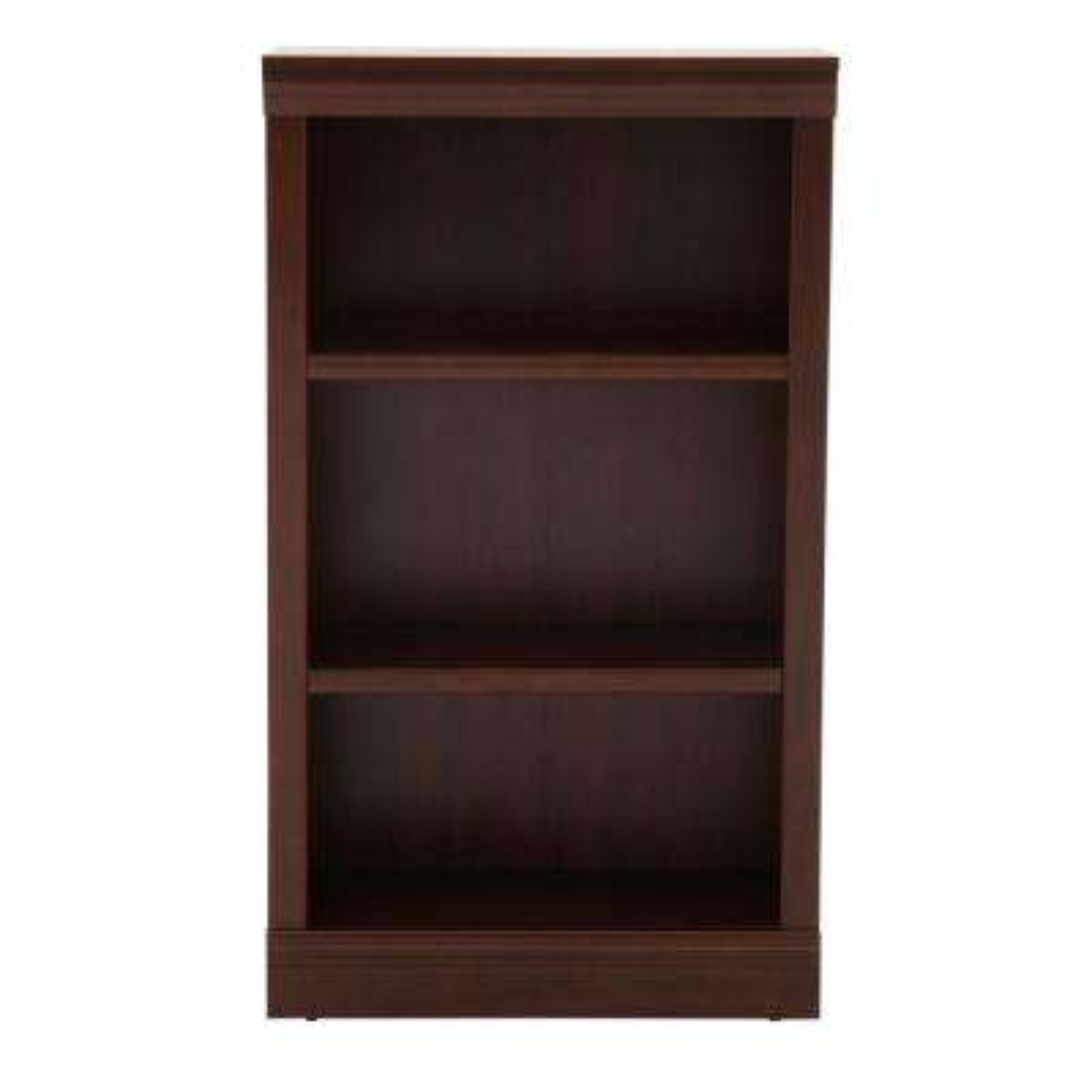 Dark Brown 3-Shelf Decorative Bookcase