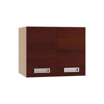 Genoa Ready to Assemble 36 x 30 x 12 in. Wall Cabinet with 2 Soft Close Doors in Cherry