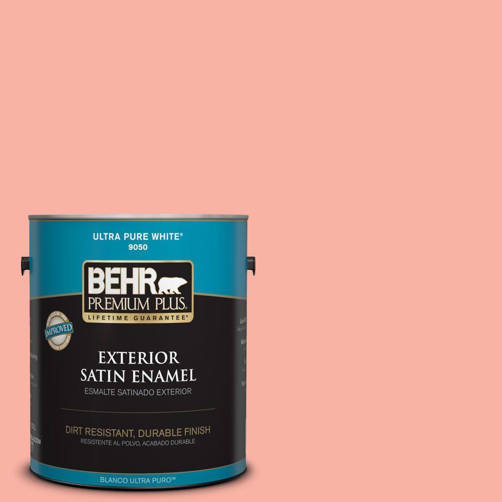 1-gal. #180A-3 Just Blush Satin Enamel Exterior Paint