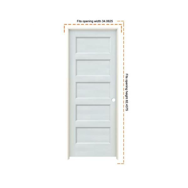 Jeld Wen 32 In X 80 In Conmore French Vanilla Paint Smooth Hollow Core Molded Composite Single Prehung Interior Door Thdjw236700035 The Home Depot