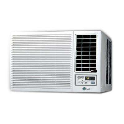 18,000 BTU Window Air Conditioner with Heat and Remote in White